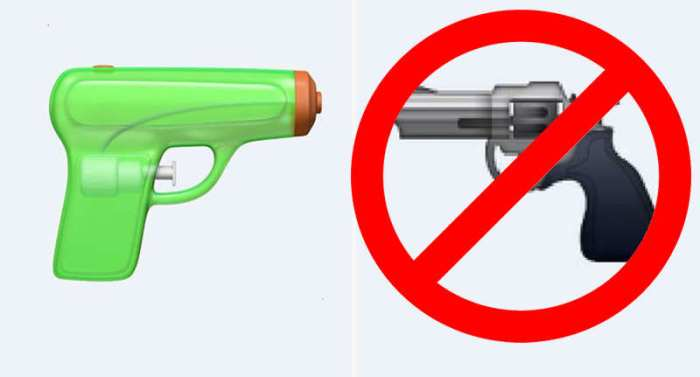 apple gun emoji